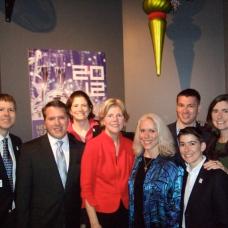Robyn w/Sen. Elizabeth Warren & Members of MassEquality's Board and Staff