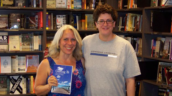 Robyn and Erin Moore at the book signing in Borders Uptown, Dallas