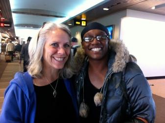 Robyn w/J'Adriel at Creating Change