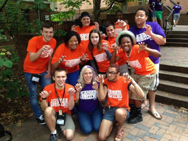 Robyn with Campus Pride members